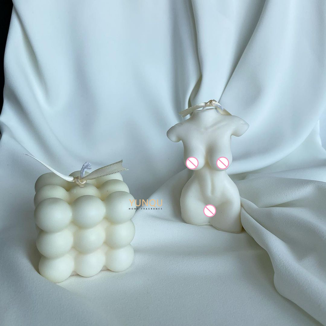 3D Silicone Ball Shape Knot Candle Molds for Making bubble candle body candle