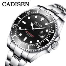 Мужские наручные часы CADISEN, модные автоматические часы в стиле милитари, 2020(Китай)