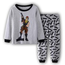 Детская блузка с длинными рукавами и рисунком «Звездные войны» для маленьких мальчиков, топы, штаны, брючный костюм, пижамный комплект(China)