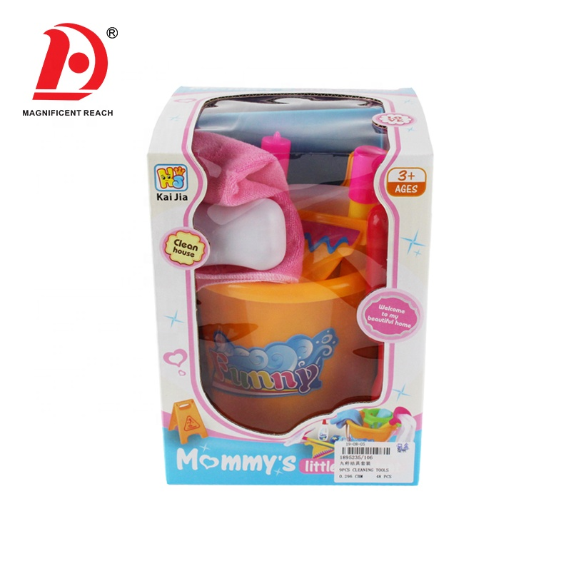 Girls Preschool Learning Education Pretend Play Game House Tool Kit Kids Household Cleaning Toys Set