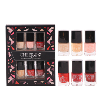 Square Bottle Paper Box 6 Pack Wholesale Private Label Finger Nail Polish Color