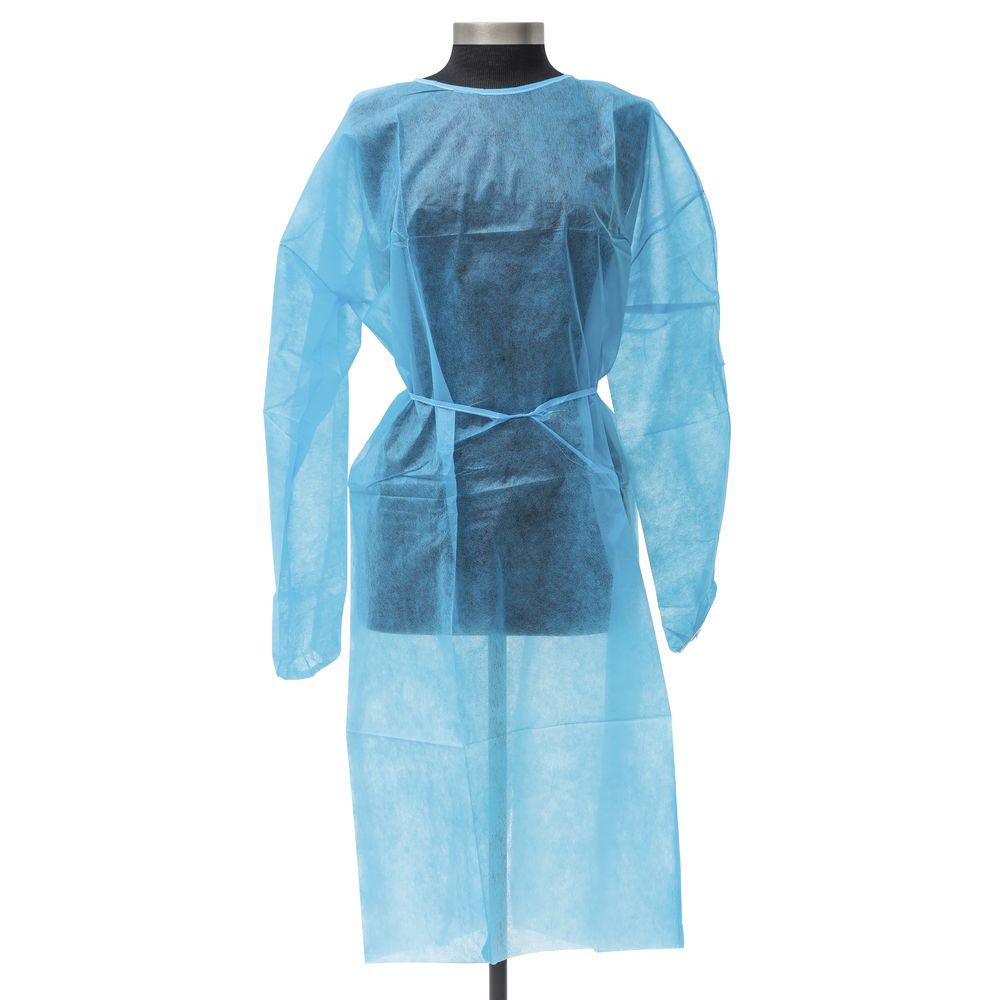 Disposable white Isolation Gown Waterproof isolation gown anti-statics PP isolation gowns with TPU - KingCare   KingCare.net