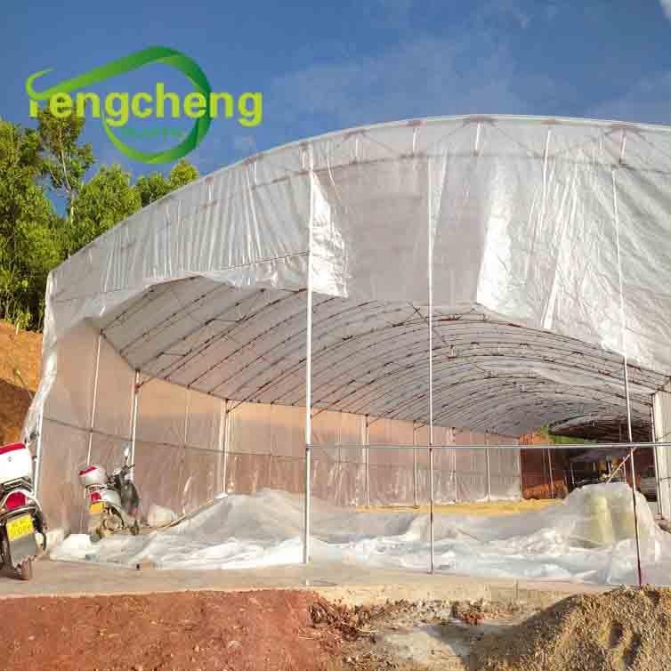 Сверхпрочная УФ-защита, 200 микрон, трехслойная полиэтиленовая сельскохозяйственная плетеная пластиковая пленка для теплиц