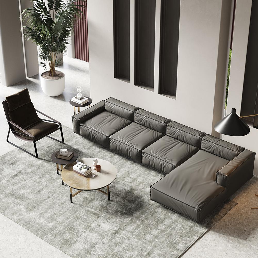 Luxury Modern Italian Design Genuine Leather White Brown Grey 20 ...