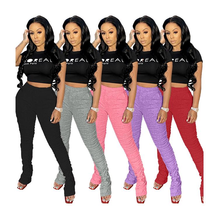 Pantalones Apilados Para Mujer Pantalon Plisado 5 Colores Mallas Apiladas Buy Pantalones De La Falda Pantalones De Color Solido Leggings Pantalones Apilado Leggings Product On Alibaba Com