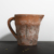 Hot sale custom logo unique cup shape indoor decorative home decor cement garden succulent pot with handle