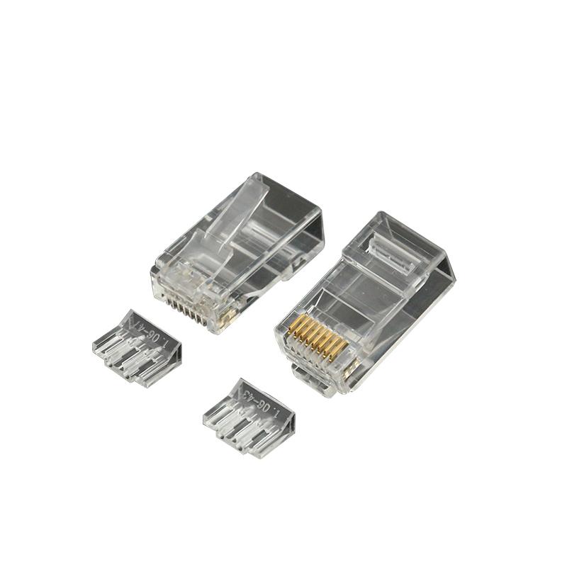 Best Seller cat5e cat6 UTP rj45 connector 50u co wire quick male connector