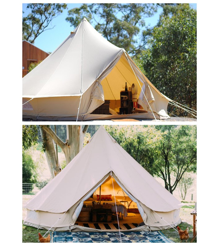 Large Luxury Family Camping Tent Waterproof 5M Cotton Canvas Marquee Party Wedding Glamping Bell Tent