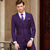Men purple suits(blazer+Vests+pants)