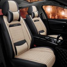 Льняные чехлы для сидений автомобиля KADULEE для Citroen c4 c5 c3 C6 Elysee Xsara C-Quatre Picasso DS3 DS4 DS5 автомобильные чехлы для сидений Аксессуары для автомобилей(Китай)