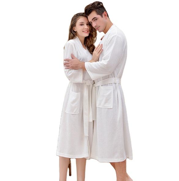Горячая Распродажа, одежда для сна из полиэстера в форме вафель для пар на осень и лето