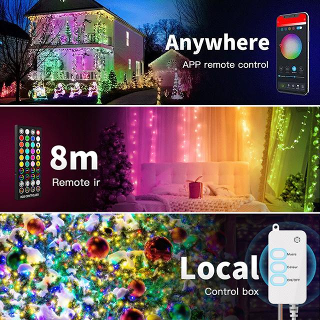 Garden RGB Globe Christmas Camping LED Decoration Outdoor Wifi Led Christmas Lighting