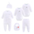 Baby Rompers Sets Newborn Baby Cotton Jumpsuit 6Pcs Baby Suit With Hat