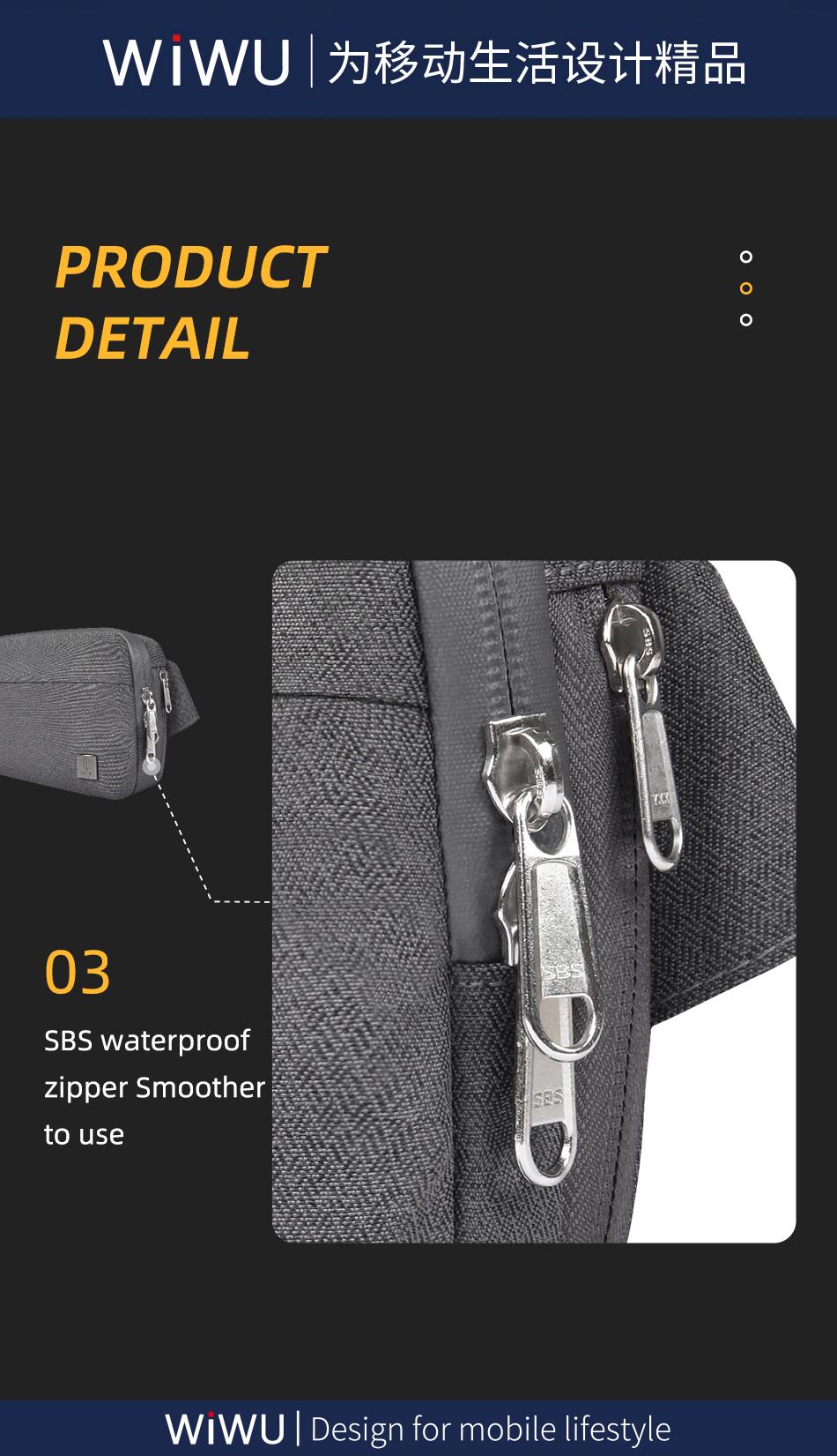 WIWU 2022 Top Selling Crossbody Sling Backpack Sling Bag Travel Hiking Chest Bag Daypack