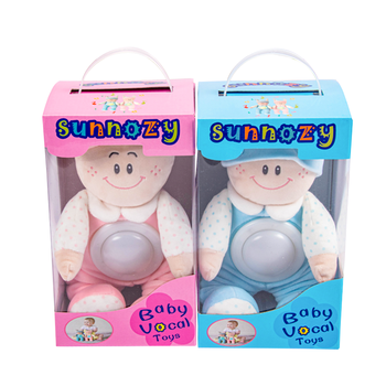 Stuffed Plush Teddy boy girl Luminous Toy Touch Night Light With Lullaby Music For Baby birthday gift