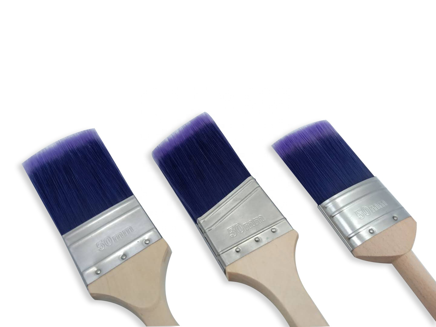 PET Bi-Color Filament  Household 2IN Painting Brush with Different Handle Style
