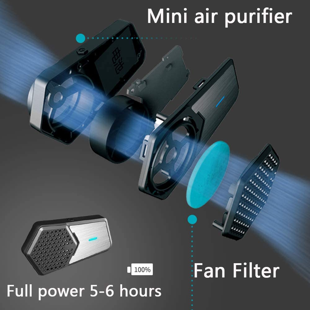 Wholesale best selling PM2.5 Dust Smart Electric personal air purifier wearable cordless Activated Carbon Filter air purifier