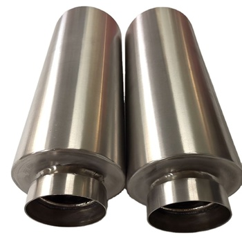 Titanium Muffler exhaust with Perforated Pipe and stuffing steel wool for racing car