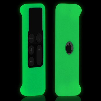 Remote Case for Apple TV 4th Gen, Protective Silicone Cover for New Apple TV 4K /Gen 4 Siri Remote Controller Green Glow