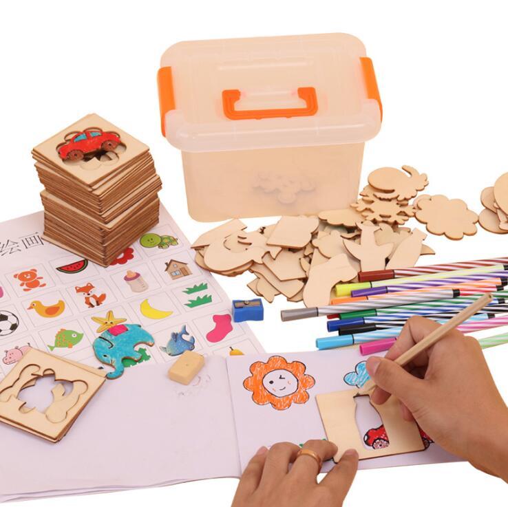 Цветной рисунок креативный шаблон для обучения рисованию детей