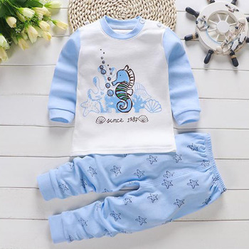 High Quality Bulk Wholesale 100% Cotton Baby Clothes New Baby Clothing Infant Toddler Boys Girls Underwear Two Pieces Sets