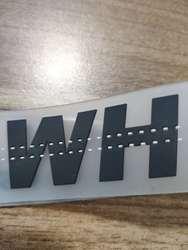 Модный холщовый трехмерный металлический резиновый строченный белый ремень с пряжкой Новый стиль логотип для мужчин и женщин
