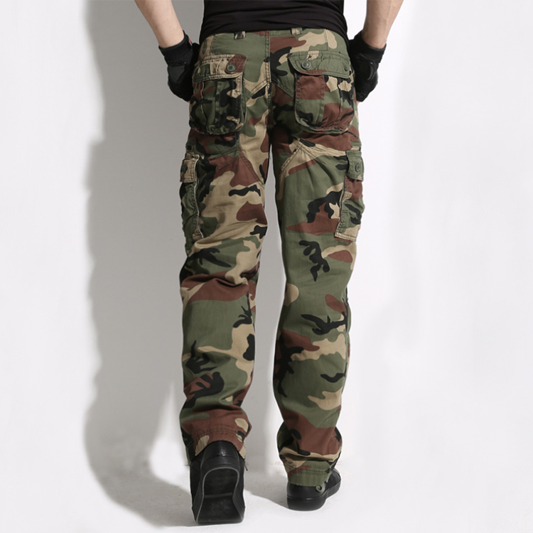 Mens Military Cargo Pants Army Tactical Combat Casual Trousers Hiking Camouflage