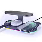 Best selling 2020Wireless charger with UV light for Mobile phone IPOD IPHONE IWACH charging 5in1