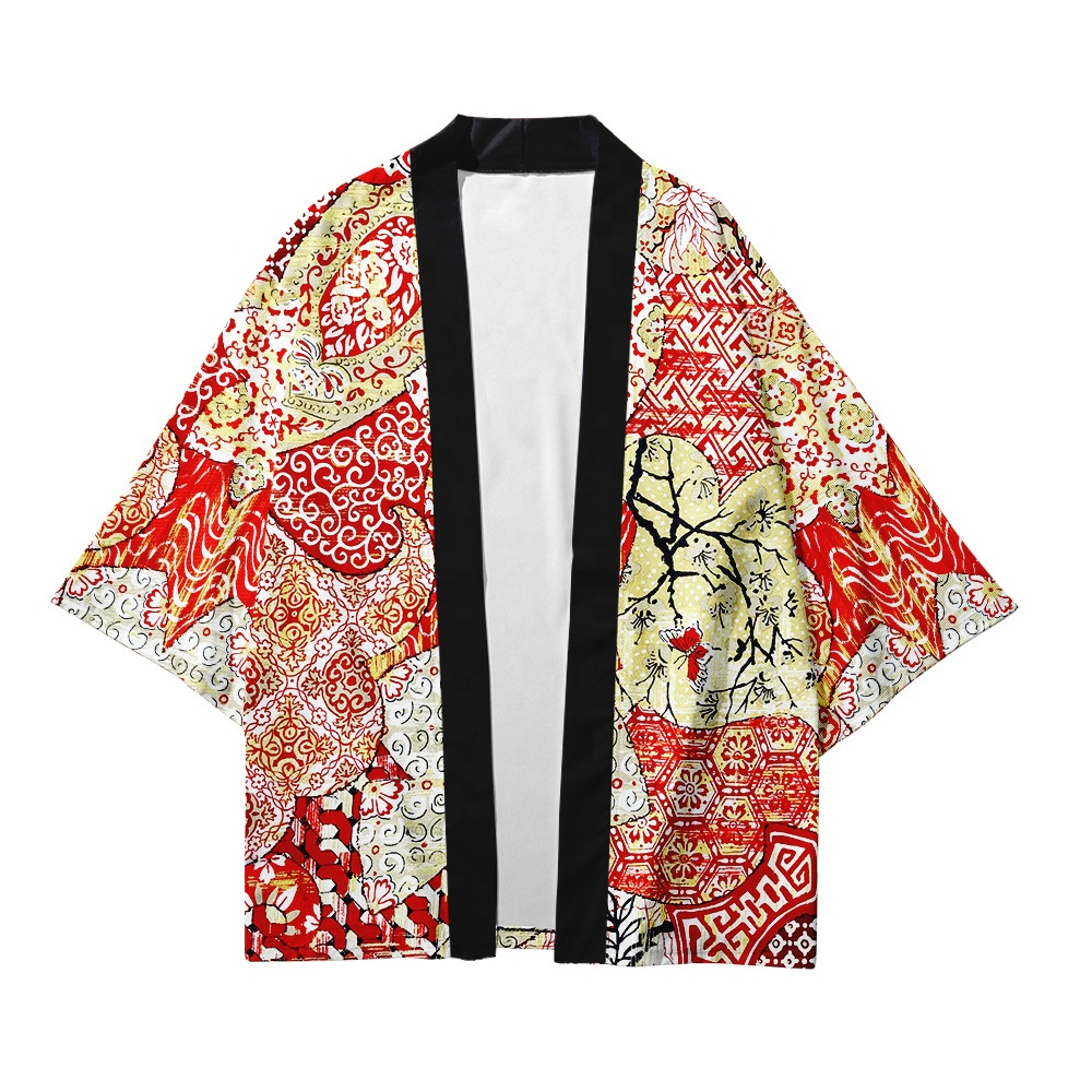 Custom sublimation printing women men onsen traditional cosplay japanese kimono yukata