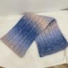 Degrade pembe mavi eşarp