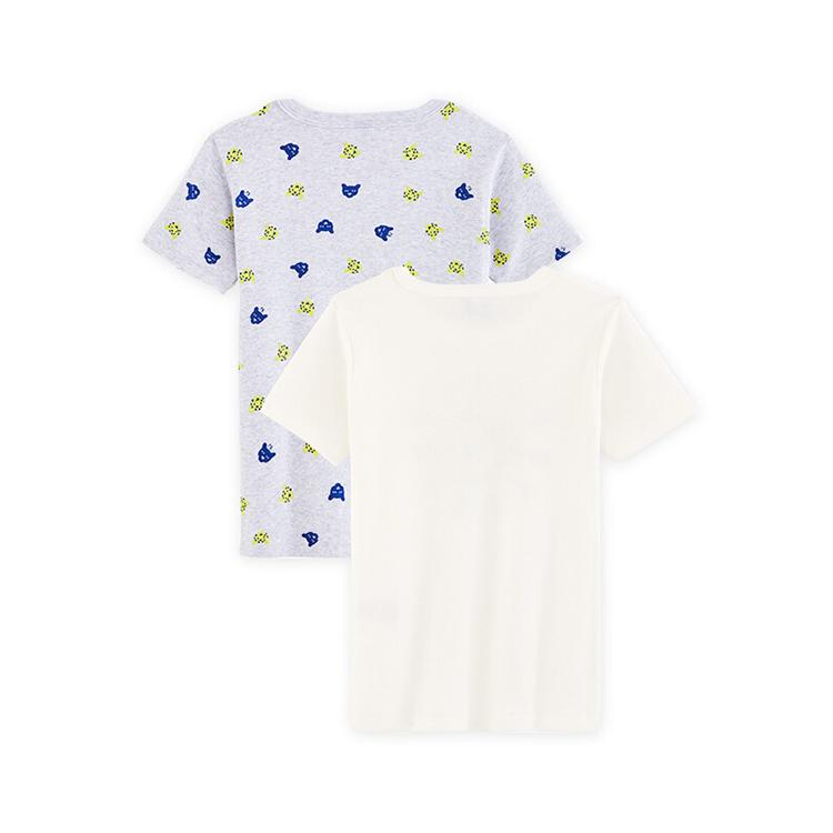 Kids Short Sleeves Boys Top Knitted Children T-shirt 2 Pcs Pack(boys) Custom Summer Wear Breathable/sweat Releasing Plain Dyed