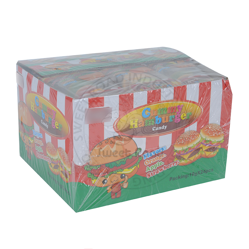 Hamburger Gummy Candy Chewing Gelatin Candy Fast Food Confectionery