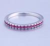 07;Platinum;half pink diamond ring