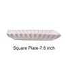 White Square Plate-7.8 inch