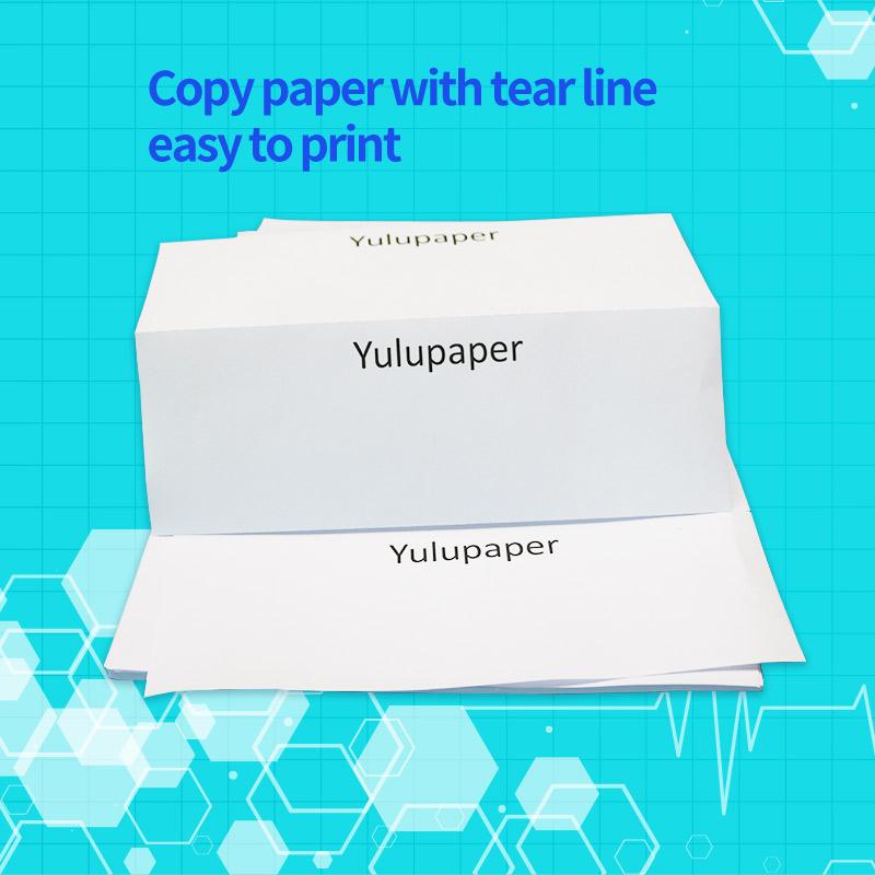 Фабричная продажа, бренд Yulu, принимаем заказы на 210x297 мм, 500 листов, 100% целлюлозы, белая линия разрыва, бумага для печати А4