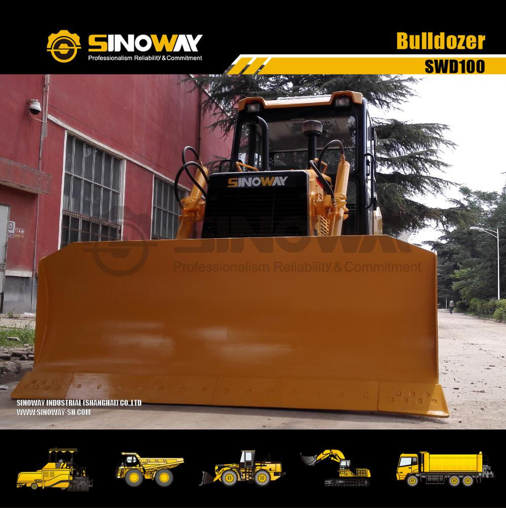 Гусеничный гусеничный бульдозер SINOWAY, 10 тонн, 100 л.с., мини-Гусеничные тракторы для сельскохозяйственных угодий