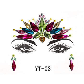 performance diamond face Jewels gem crystal bindi stickers for party
