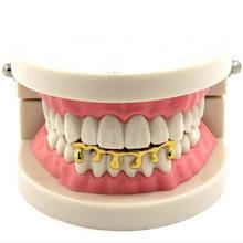 Пользовательские панк подходят золотые зубы GrillsTeeth капельные грили Стоматологическая Верхняя и нижняя гриль Косплей зуб шапки ювелирные и...(Китай)