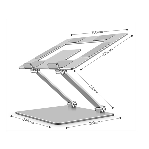2021 New Arrival Simple Design Metallic Sturdy Support Laptop Stand With Adjustable Folding