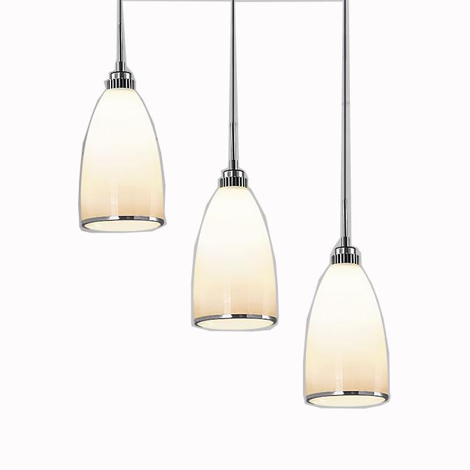 European E27 decorative nordic pendant ivory white glass shade lamp