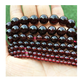 Necklace Gemstone Raw Natural Bead Stones Gemstones Beads Red Garnet Stone