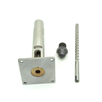 Small diameter 20mm extruder screw, barrel and nozzle for desktop plastic extruders