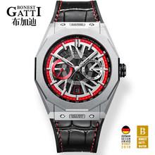 Мужские механические наручные часы класса люкс от ведущего бренда GATTI водонепроницаемые спортивные мужские часы автоматические часы relogio ...(Китай)