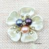 colored pearls five petals3.6*3.6cm