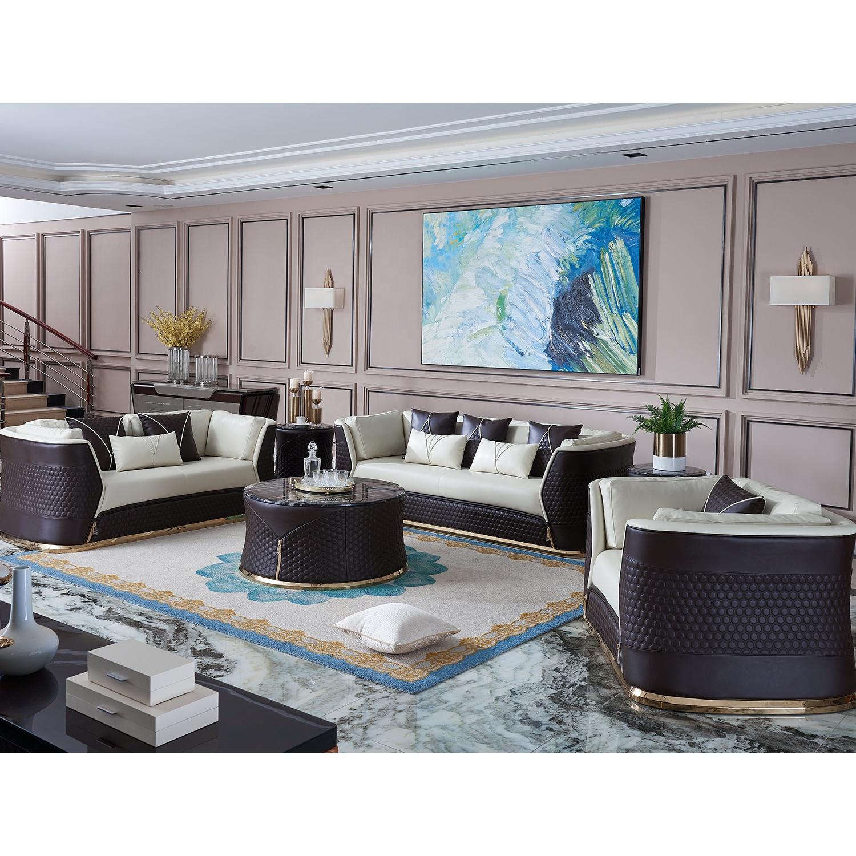 Luxury Modern Design Living Room Furniture Set Sectional Leather ...