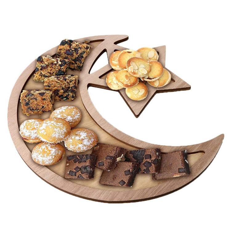 Huiran Wooden Islamic Muslim Eid Mubarak Food Serving Tray For Eid Mubarak Decoration Ornament Ramadan Decorations Buy Eid Mubarak Tray For Ramadan Decorations Eid Mubarak Dessert Tray Display Wooden Ramadan Tray Decorations Product