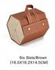6 slots/brown