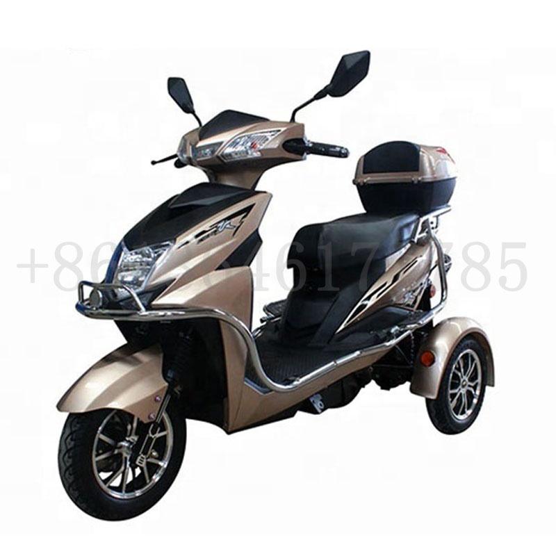 Горячая продажа Электрический трехколесный мотоцикл двухколесные электрические скутеры 3 трехколесный самокат инвалидности с padals для взрослых/пожилых людей