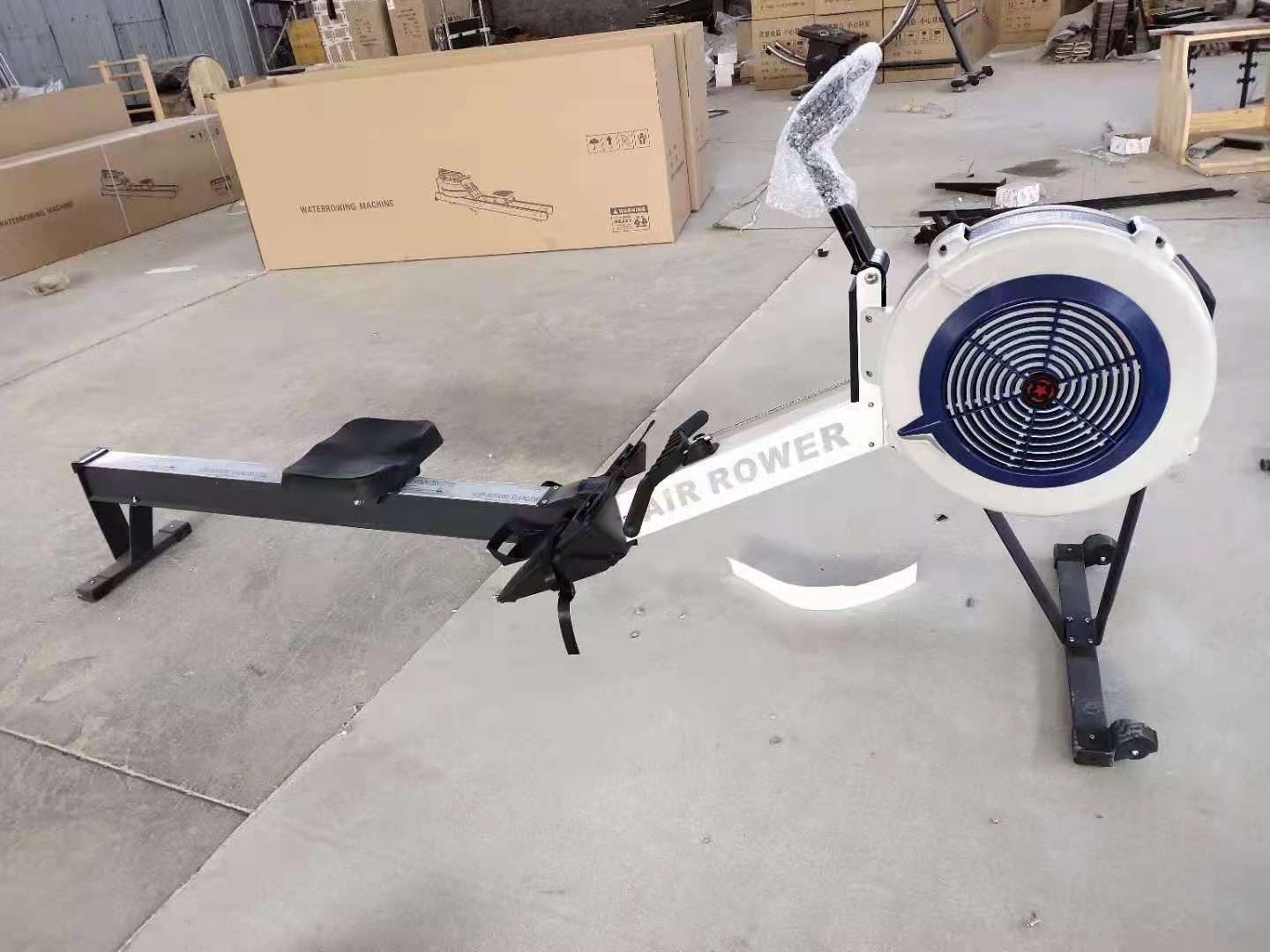 Factory Supply Aerobic Exercise Equipment Foldable Commercial Air Rowing Machine