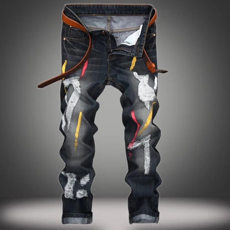 Pantalones Vaqueros De Disenador Para Hombre Pantalon Largo Con Agujeros Popular Buy Hombres Pantalones Vaqueros Hombre Vaqueros Hombres Jeans De Disenador Product On Alibaba Com